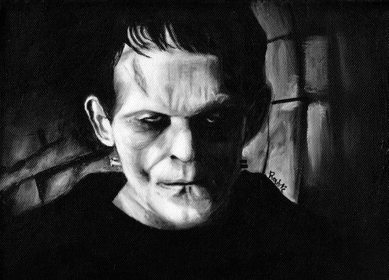 THE MONSTER of FRANKENSTEIN - Boris Karloff Art Print