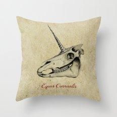 Equus Cornualis Throw Pillow