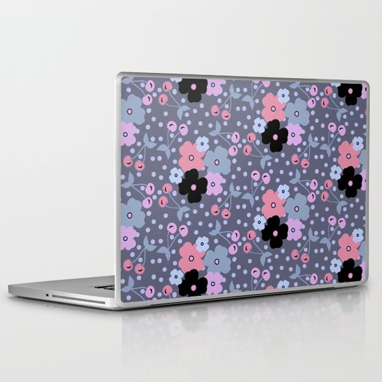 Gray Cherry Laptop & iPad Skin