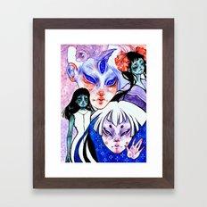 Zombie playground Framed Art Print