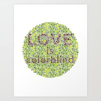 Love Is Colorblind Art Print