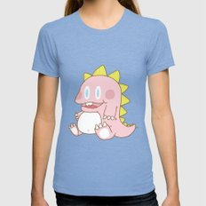The Pink Dinosaur Womens Fitted Tee Tri-Blue SMALL