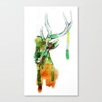 Deerface Canvas Print