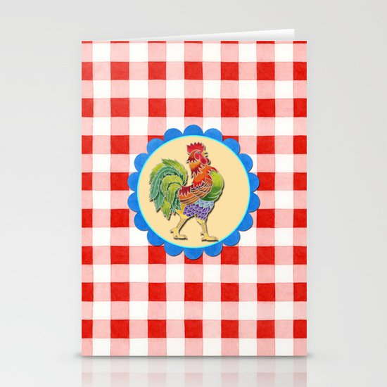 Rise and Shine Rooster Stationery Card