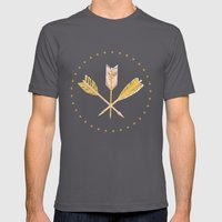 aztec arrows Mens Fitted Tee Asphalt SMALL