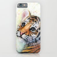 iPhone & iPod Case featuring Tiger Cub by Olechka
