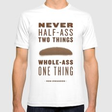 Whole-Ass One Thing Mens Fitted Tee White SMALL
