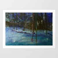 We got caught in a blizzard.. Art Print