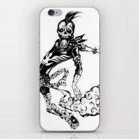 Fart Skull Flying iPhone & iPod Skin