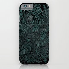 Teal ornaments iPhone 6s Slim Case
