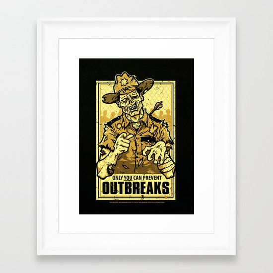 Outbreak Prevention Framed Art Print