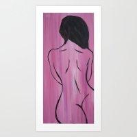Cherry Wood Girl Art Print