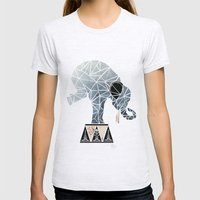 elephant circus  Womens Fitted Tee Ash Grey SMALL