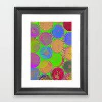 The Lie is a Round Truth. Green. Framed Art Print