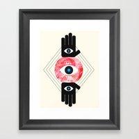 DREVM EYE Framed Art Print