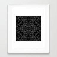 Slate Gray Pattern Framed Art Print