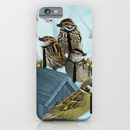 Smoking Birds Print iPhone & iPod Case