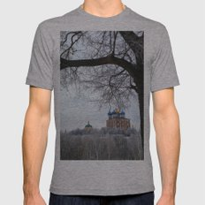 View from afar Mens Fitted Tee Athletic Grey SMALL