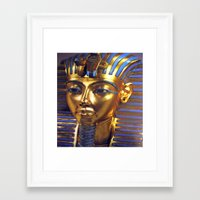 Gold Mask Framed Art Print