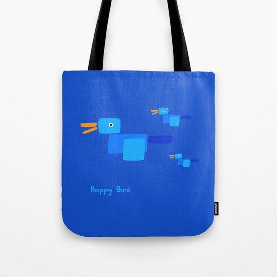 Happy Bird-Blue Tote Bag