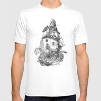 Crystal Mountain Mens Fitted Tee White SMALL