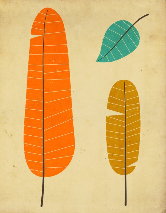3 Leaves Art Print