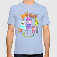 Animal Pyramid Mens Fitted Tee Tri-Blue SMALL