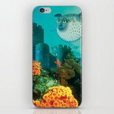 Pufferfish Girl iPhone & iPod Skin