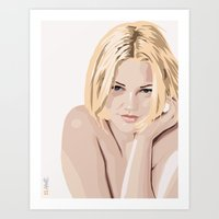 Drew Barrymore Art Print