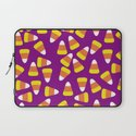 Candy Corn Jumble (purple background) Laptop Sleeve