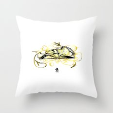 3D Graffiti - No Way Throw Pillow