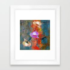 Abstract blooming Framed Art Print