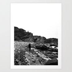 Standing on the coast Art Print