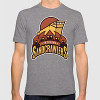 Tatooine SandCrawlers - Gold Mens Fitted Tee Tri-Grey SMALL