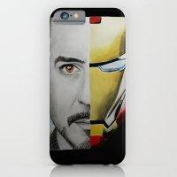 iPhone Cases featuring Tony Stark by Goolpia