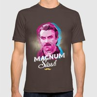 The Magnum Mens Fitted Tee Brown SMALL