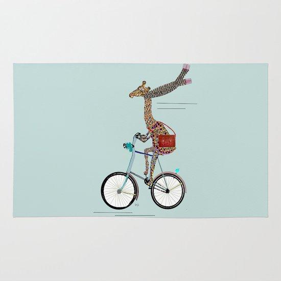 Giraffes School Days  Area & Throw Rug