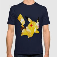 Pikachu - Digital Waterc… Mens Fitted Tee Navy SMALL