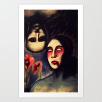 LOVE IS BLINDNESS Art Print