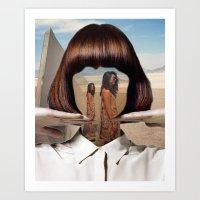 Haircut 2 Art Print