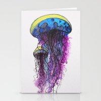 Sketchy Jellyfish Stationery Cards