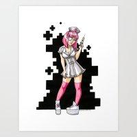 Cotton Candy Space Nurse Art Print
