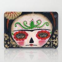Frida The Catrina And The Skull - Dia De Los Muertos Mixed Media Art iPad Case