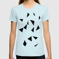 Ab Repeat Black Womens Fitted Tee Light Blue SMALL