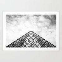 Louvre Pyramid Paris Fra… Art Print