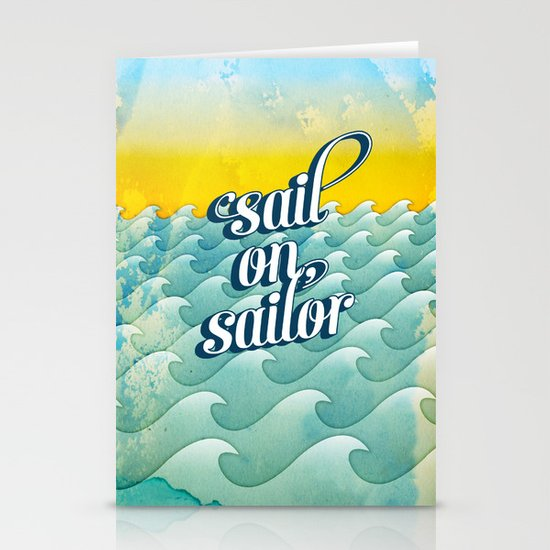 Sail on sailor, Stationery Card