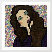 Dotty Girl Art Print