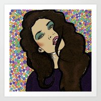 Dotty Girl Art Print