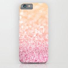 Pink and Orange Glitter iPhone 6 Slim Case