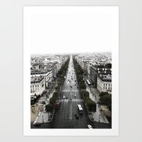 The Avenue Des Champs-El… Art Print